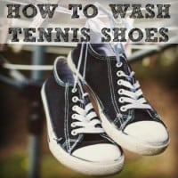 How to wash tennis shoes from HousewifeHowTos.com