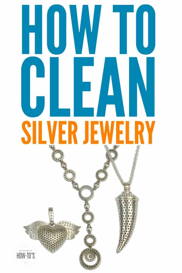 How to Clean Silver Jewelry | Tarnish smells and looks bad. It's easy to get rid of tarnish on your silver jewelry and keep it away. . #tarnish #tarnishedsilver #tarnishedjewelry #jewelry #silverjewelry #jewelrycleaning #cleaningjewelry #silvercleaning #cleaningtip #housewifehowtos #householdtip #cleaningadvice