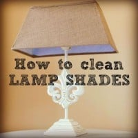 How to clean lampshades from HousewifeHowTos.com