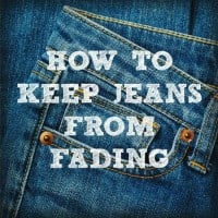 How to keep jeans from fading from HousewifeHowTos.com
