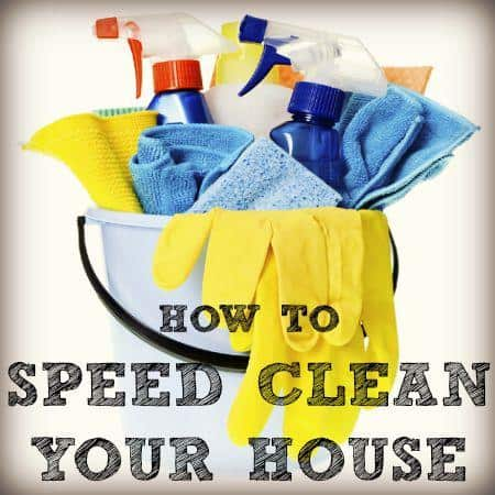 How to speed clean your house from HousewifeHowTos.com