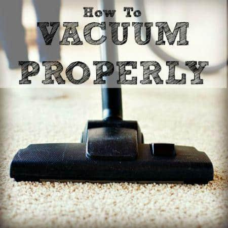 How to vacuum properly from HousewifeHowTos.com