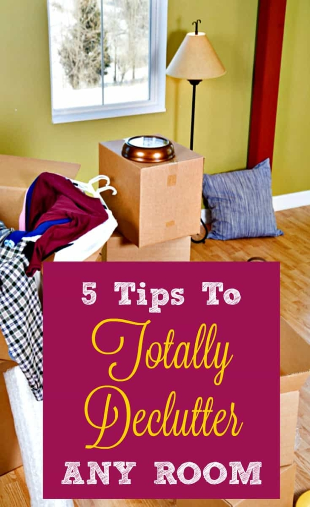 5 Tips: How To Declutter Any Room • Housewife How-To\'s®