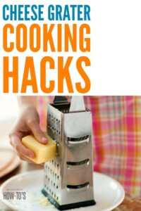 Cooking Hacks Using Your Cheese Grater #cookinghacks #howtocook #makedinnerfaster #cookingtips #cooking #housewifehowtos #householdtips