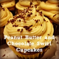 Peanut Butter and Chocolate Swirl Cupcakes