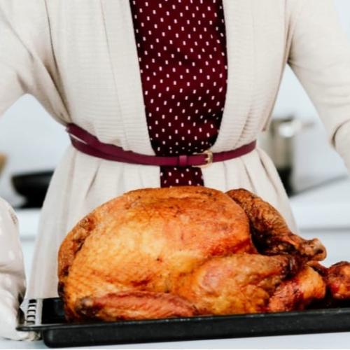 Perfectly Moist Turkey roasted with Turkey Brine recipe