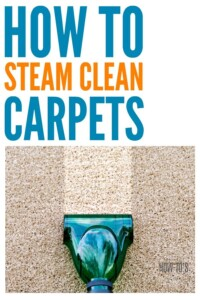 How to Steam Clean Carpets - This all-natural method got my carpets looking new again even when the professional carpet cleaners couldn't do it! #carpetcleaning #carpetshampoo #cleaning #deepcleaning #floorcare #carpeting