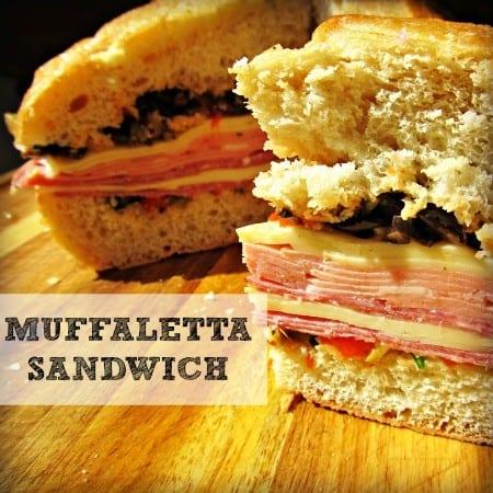 Muffaletta sandwich recipe from HousewifeHowTos.com