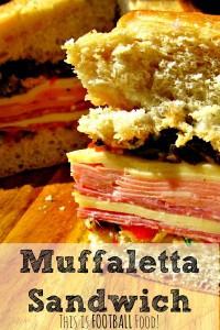 Pin Muffaletta sandwich recipe from HousewifeHowTos.com