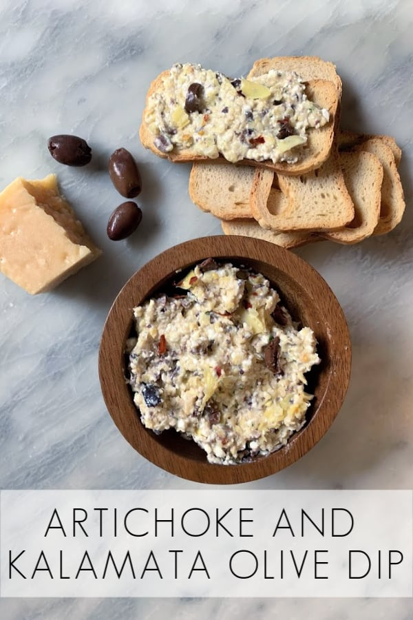 Artichoke and Kalamata Olive Dip No Mayo Appetizer