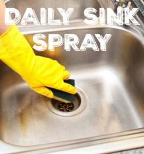 Daily Sink Spray: Deodorize, Disinfect, Shine