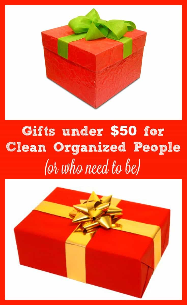 15 gifts under $50 (and most far less) for people who love a clean and organized home... or who need one.