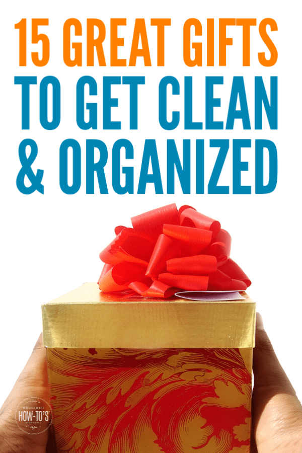 Gifts to Get Clean and Organized - Make someone's life easier and tidier #gifts #giftguide #christmas #birthday #cleaning #homeorganization