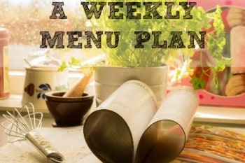 How To Make A Weekly Menu Plan
