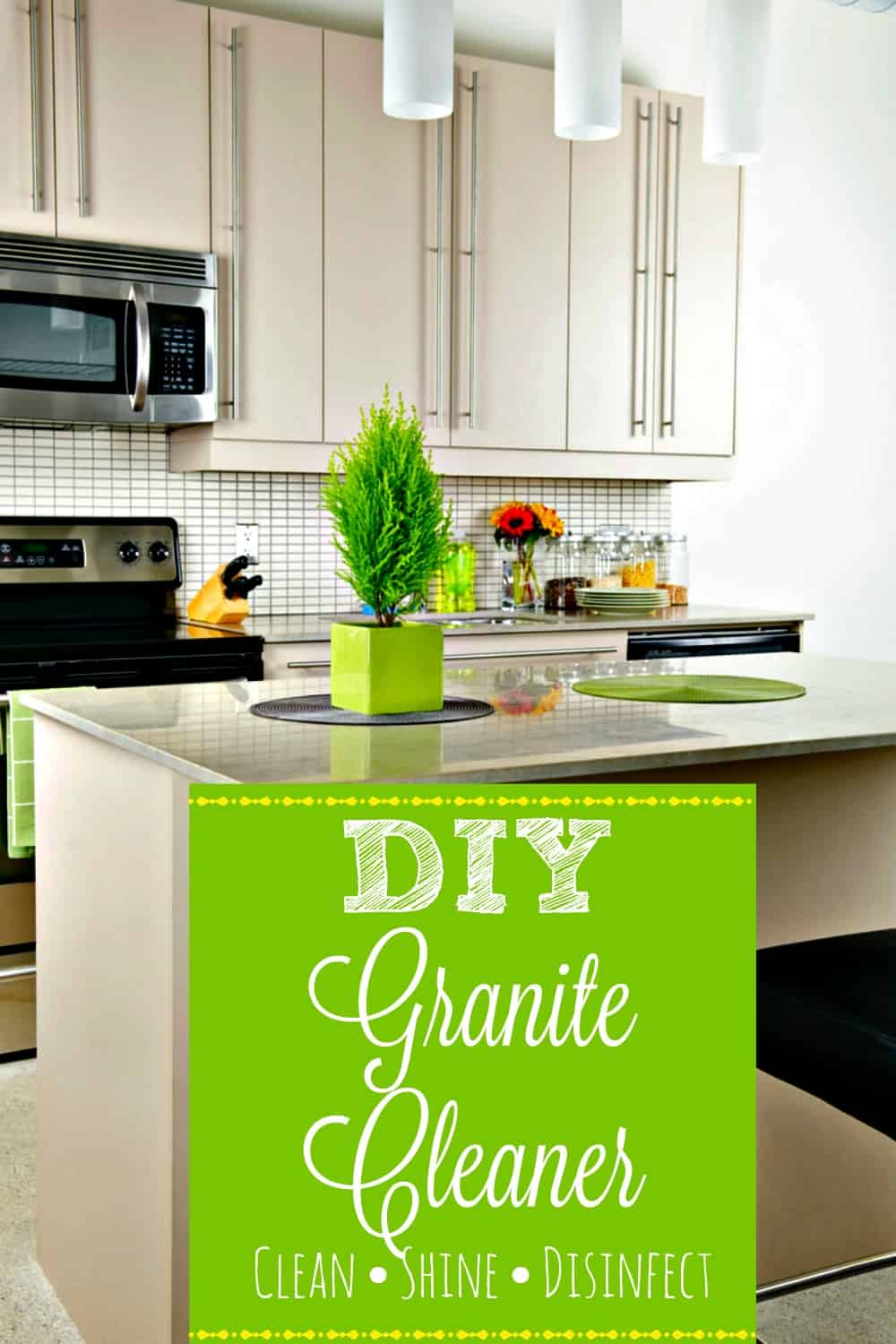 Diy Granite Cleaner Clean Shine And Disinfect In One Spray