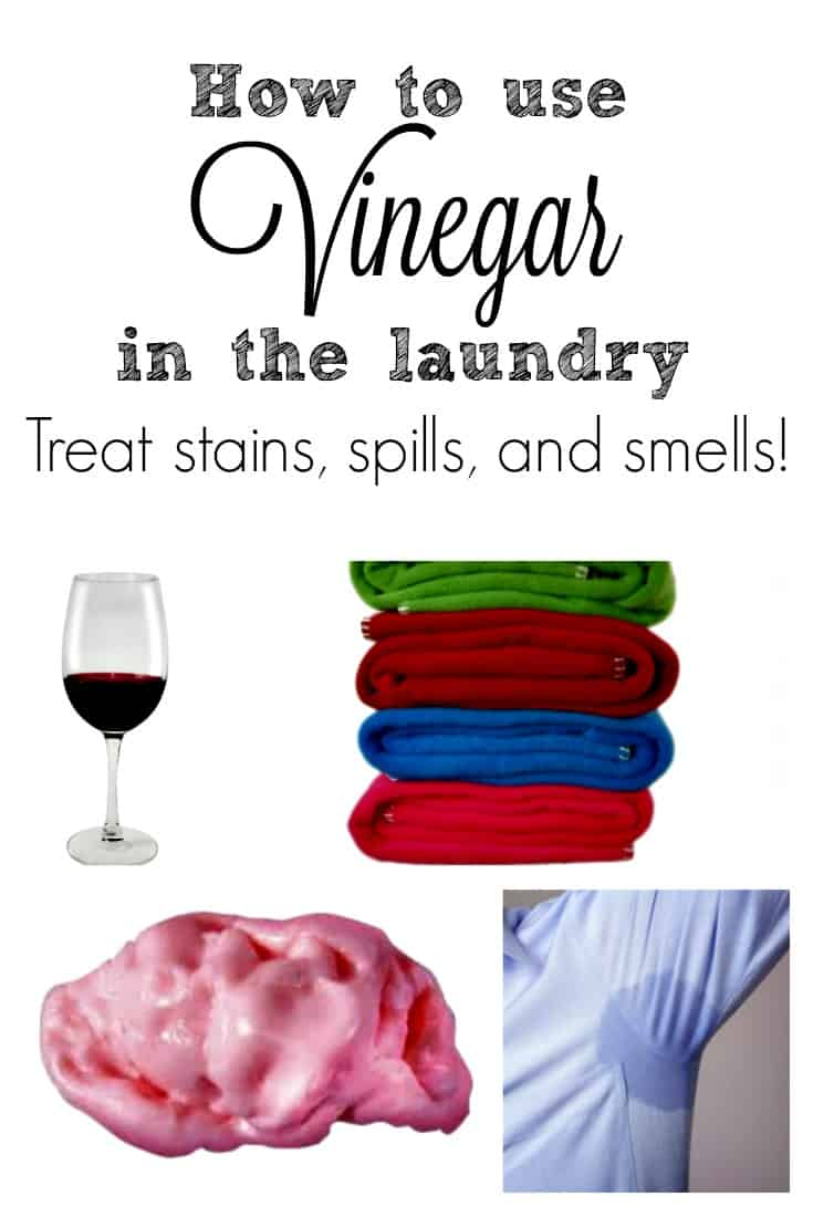 Treat stains, eliminate sweat odors, soften fabrics, even get out gum with vinegar. | laundry hacks |