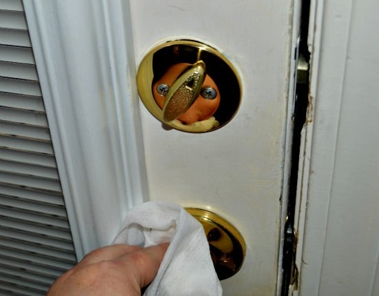 Doorknobs are one of the surfaces to clean to reduce colds and flu