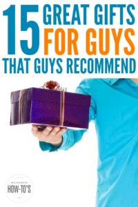 Great Gifts for Guys - I asked my male friends about the best gifts they have received and turned them into a list to make Christmas and birthday gift shopping easier #Christmas #Christmasgift #Christmasshopping #giftsformen #giftsforguys #whatguyswant #birthdaygifts #mensbirthdaygifts #giftguide #giftshopping #housewifehowtos #giftshopping #giftgiving #gifts