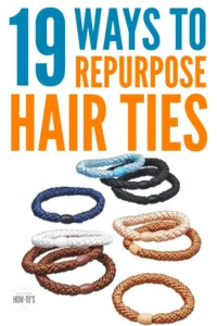 How to Repurpose Hair Ties - They make great organizing tools! (But don't try #20.)