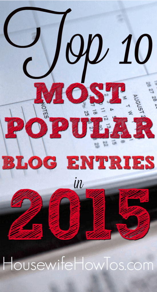 Pin Top 10 Most Popular Blog Entries 2015