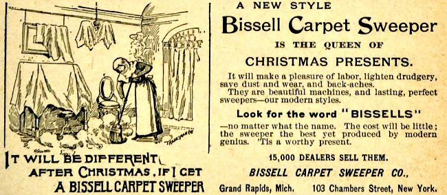 1890s Bissell Carpet Sweeper Ad