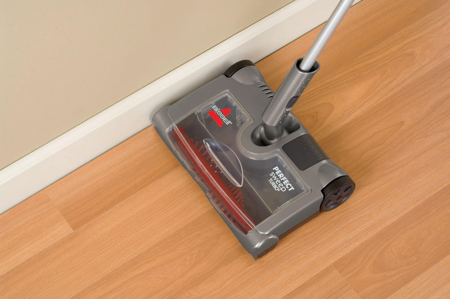 Edge brush picks up dirt around baseboards too