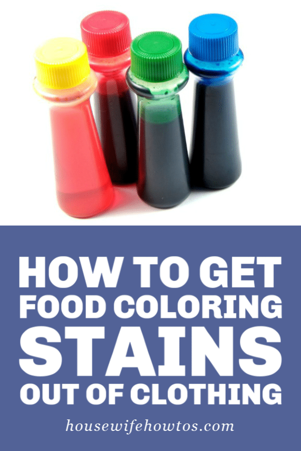 How to Get Food Coloring Stains out of Clothing