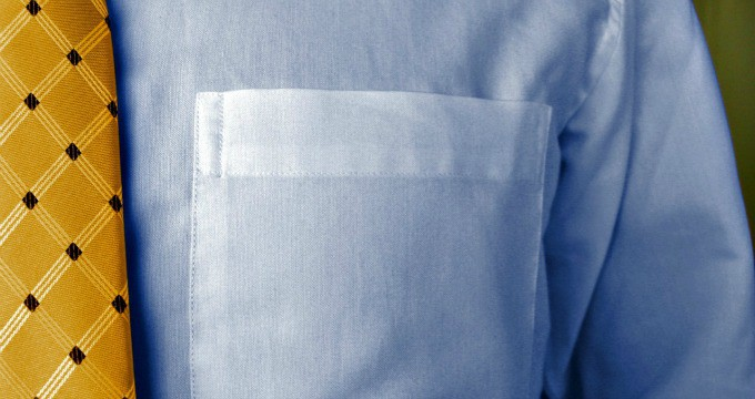 How to Get Ink Stains out of Clothes - Clean men's button-up shirt with and tie