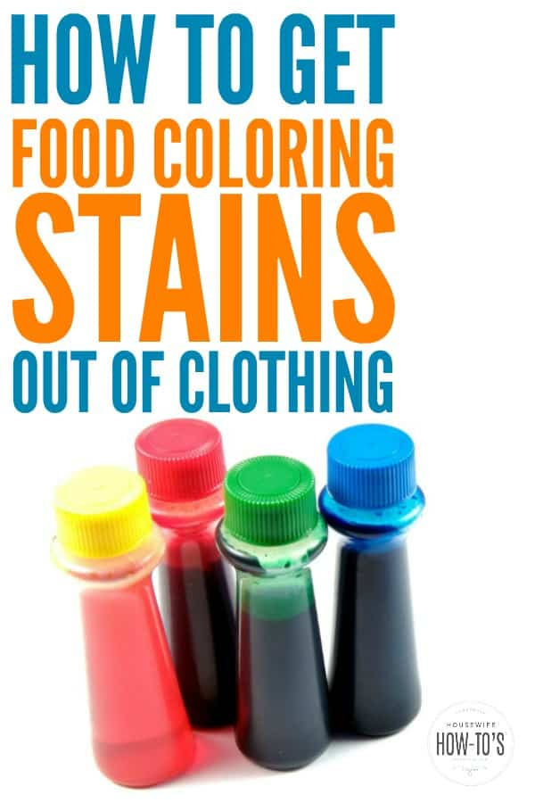 Get Food Coloring Stains out of Clothing -- Even Old Stains!