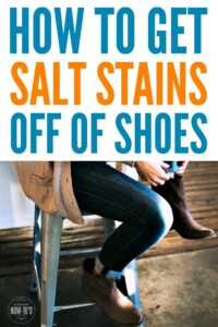 How to Get Salt Stains off Shoes - Works great to get rid of winter salt on boots and Uggs