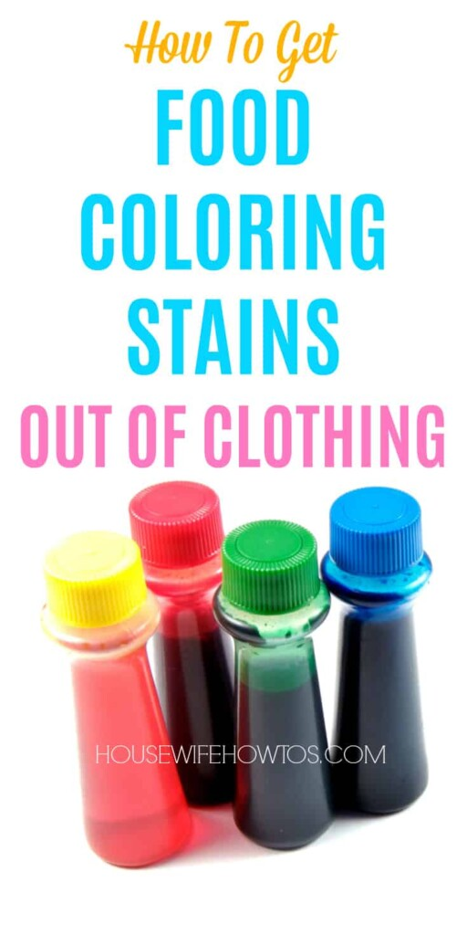how to get food coloring stains out of clothing housewife how to 39 s. Black Bedroom Furniture Sets. Home Design Ideas