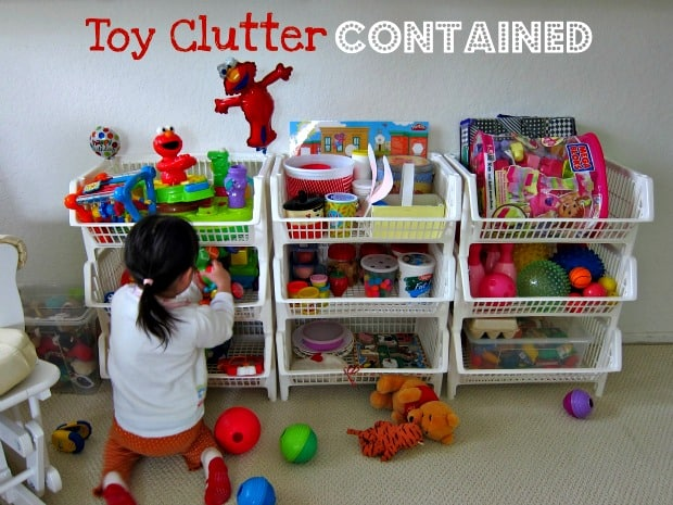 How to organize toys: Use Rolling Carts