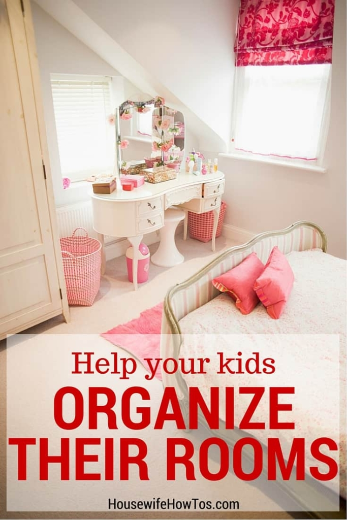 How To Organize a Child's Room - Help them learn with this easy method. #cluttercontrol #organizing #homeorganization #unclutter #kidsrooms #kidschores