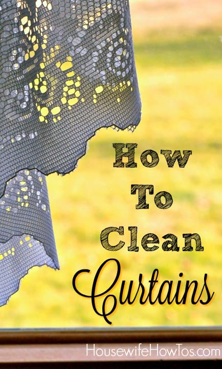 Dust, pet hair and dander, even mold spores accumulate in curtain fabric. Then they fill your indoor air every time you open them. Here's how to get them clean.