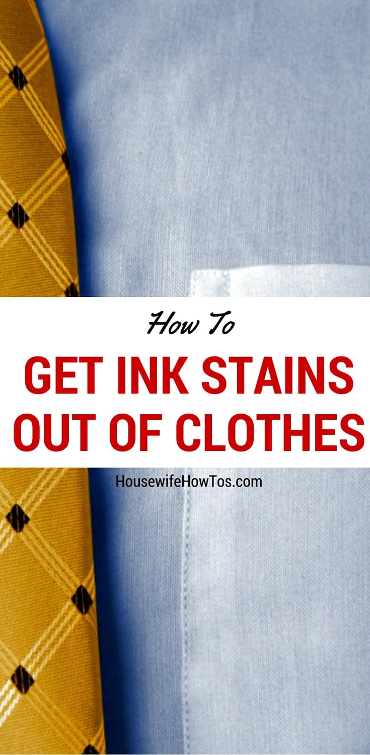 Pin How to get ink stains out of clothes