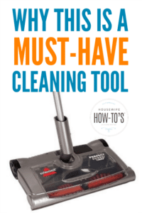 This Carpet Sweeper is a Must-Have Cleaning Tool - I bought one years ago and use it every day #cleaning #householdtip #homemaking
