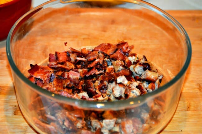 Breakfast Bowl Recipe - Chop bacon and sausage
