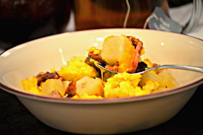 Breakfast Bowl Recipe - Defrost at 50 percent power for 1 minute then cook on high for 1 minute 30 seconds