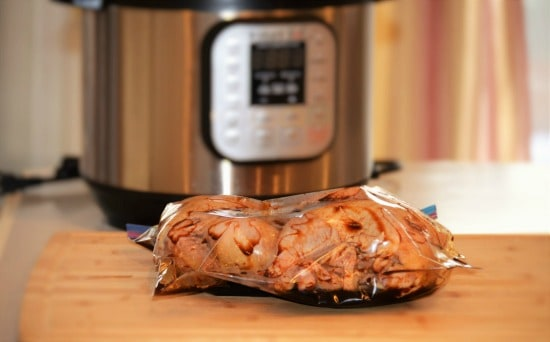 Crockpot Cornish Hens - Combine marinage ingredients in a bag then add the hens