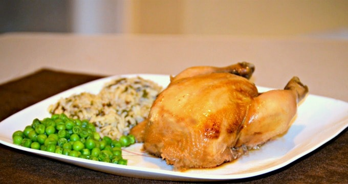 Crockpot cornish hens are tender and juicy