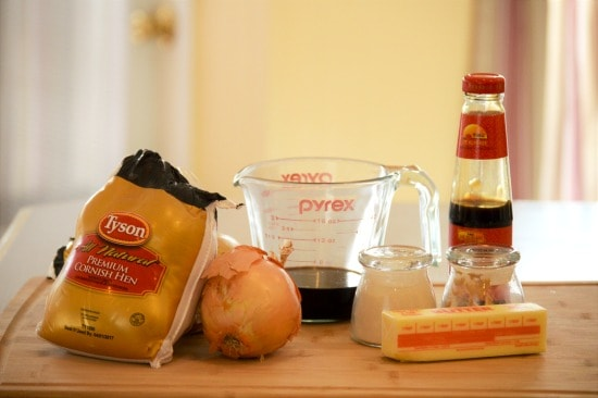 Crockpot cornish hens need only a few ingredients