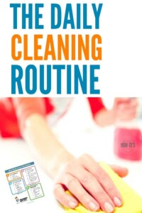 Daily Cleaning Routine - Just 20 minutes each day gets every room of my house looking tidy! #cleaning #cleaningroutine #printable #cleaningchecklist