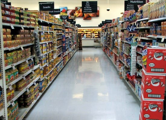 Save money on groceries without coupons - Look high and low for best prices