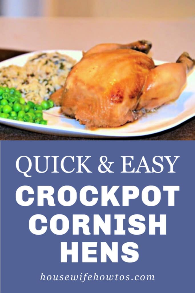 Quick and Easy Crockpot Cornish Hens