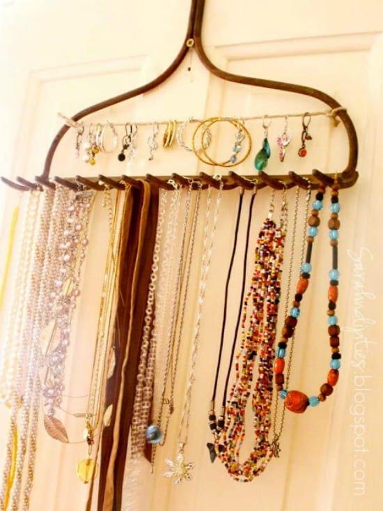 Jewelry Organization Idea - Garden Rake