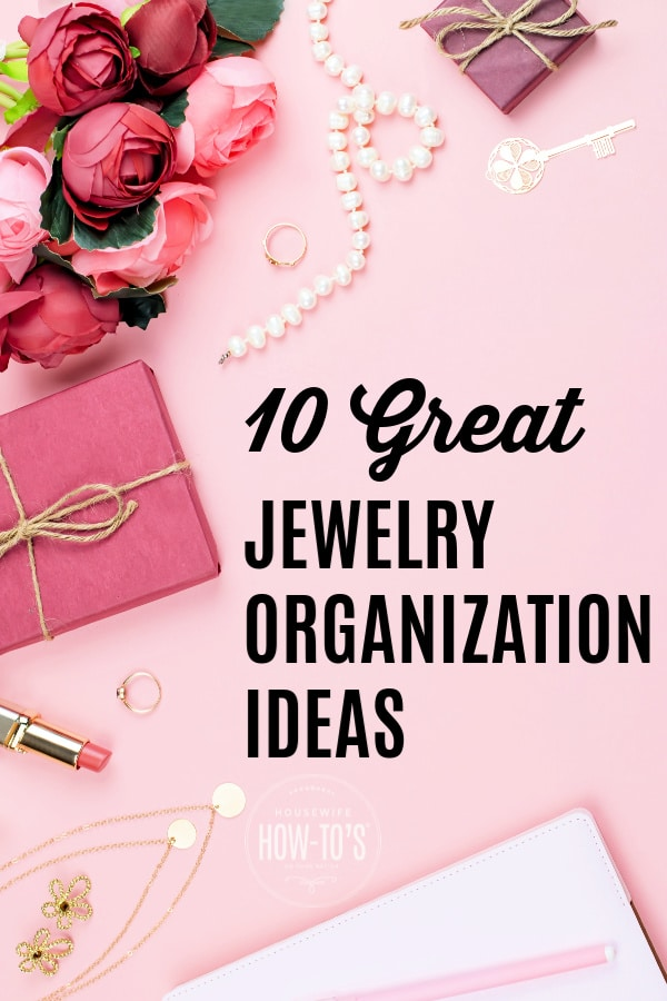 DIY Jewelry Organization Ideas using upcycled items