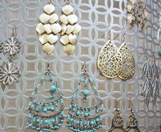 Jewelry Organization Idea - DIY Earring Holder