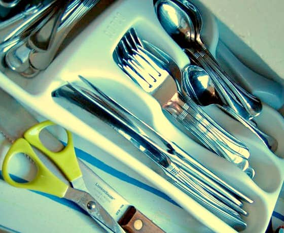 Kitchen Spring Cleaning Checklist - Clean cupboards and drawers