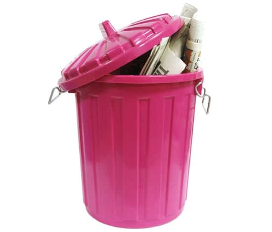 Kitchen Spring Cleaning Checklist - Clean the trash can inside and out