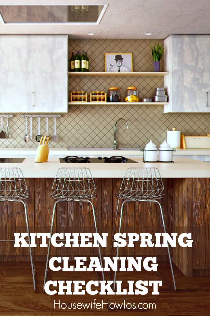 Kitchen Spring Cleaning Checklist - Easy to follow guide to spring cleaning every surface in your kitchen